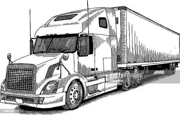 ilustraciones de stock y dibujos de transporte de mercanc u00eda por carretera