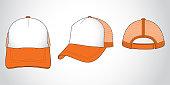 White & Orange Color