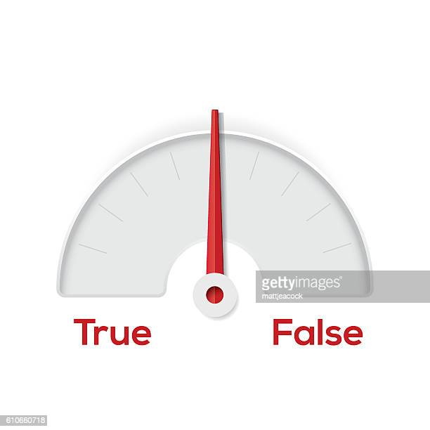 True False indicator gauge