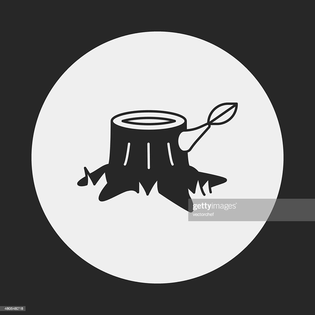 Ícone do tronco : Arte vetorial