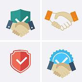 Trust Icons. Vector set