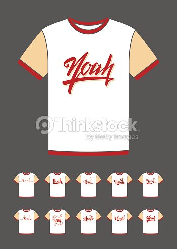tshirt design with the personal name noah vector art thinkstock