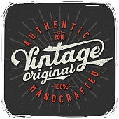 "T-shirt print with lettering text composition ""Vintage Original"""