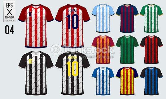 T Shirt Sport Design For Soccer Jersey Football Kit Or Uniform Template