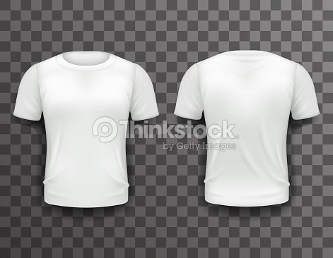 T Shirt Template Front Back Realistic 3d Design Icon Transparent Vector Art