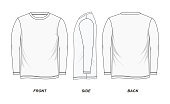 Sketch t-shirt white blank, vector image