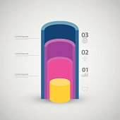 Illustration of tube section idea concept, Infographic vector