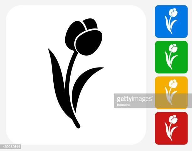 Tulip Icon Flat Graphic Design