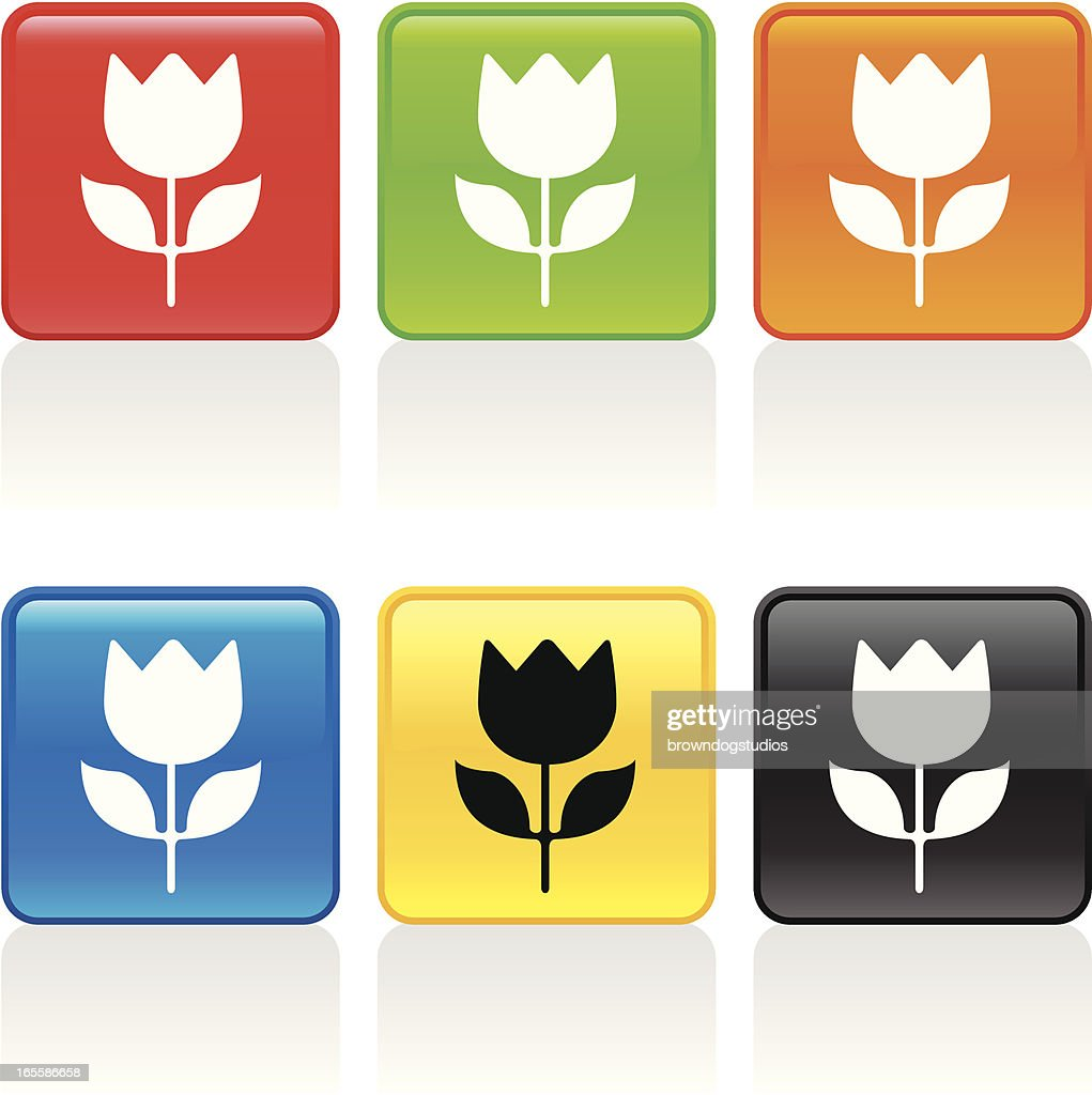 tulip icon vector art getty images