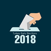 turkey early elections, vector work (Turkish erken secim vektor calismasi)