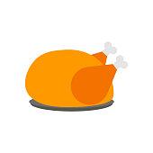 Turkey icon. Happy Thanksgiving sign. Vector eps10