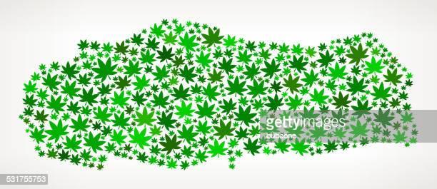 Turkey Map royalty free vector Marijuana Leaves Weed graphic