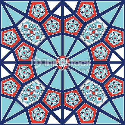 Turkish And Ottoman Empires Era Traditional Ceramic Tiles Floral ...