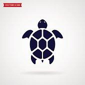 Turtle icon isolated on white background. Sea animal. Vector symbol.