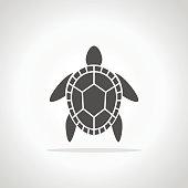 Turtle symbol. Turtle icon