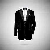 icon tuxedo on a light background