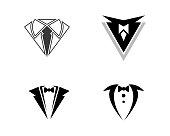 Tuxedo Logo template vector icon illustration design