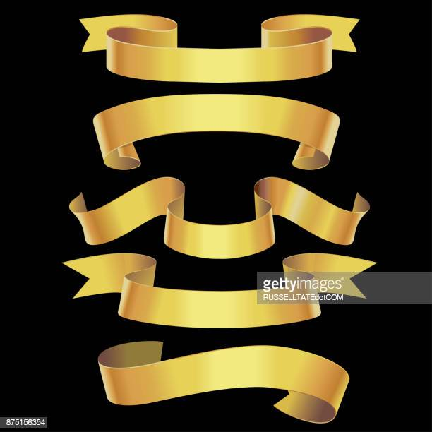 Twisting gold banners