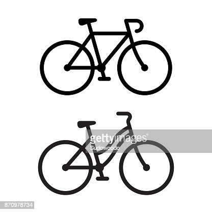 Two bike icons : stock vector