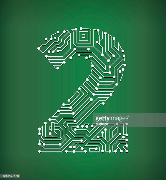 Two Circuit Board royalty free vector art background