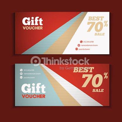 Two Coupon Voucher Design Gift Voucher Template With Amount Of – Coupon Voucher Template