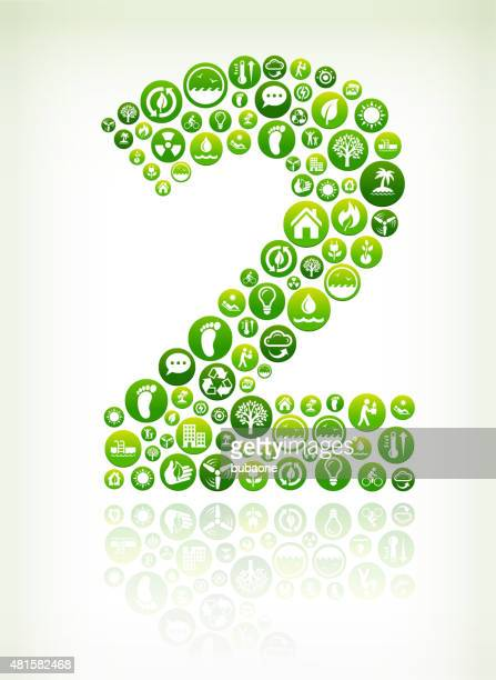 Two Environmental Conservation Green Vector Button Pattern.