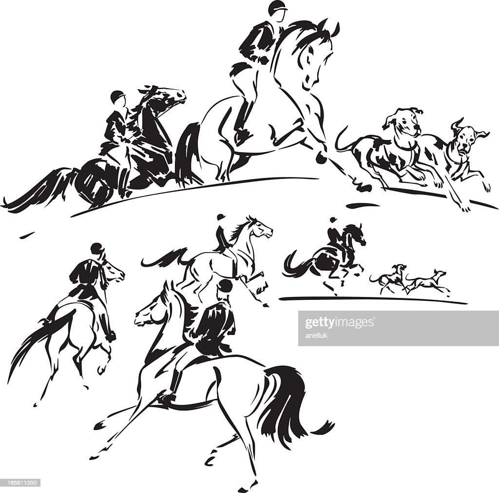 Two hunting party themes : Vector Art