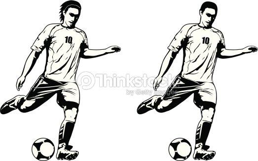 c42d8ab931261 Dos modelos de jugador de fútbol   Arte vectorial