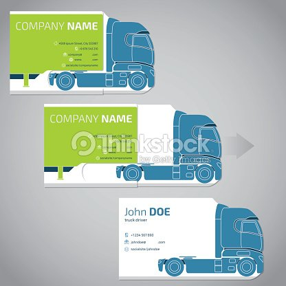 Two piece business card with truck and trailer vector art thinkstock two piece business card with truck and trailer colourmoves