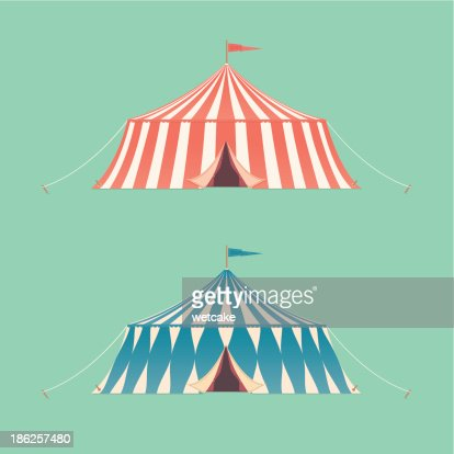 two vintage circus tents vector art thinkstock