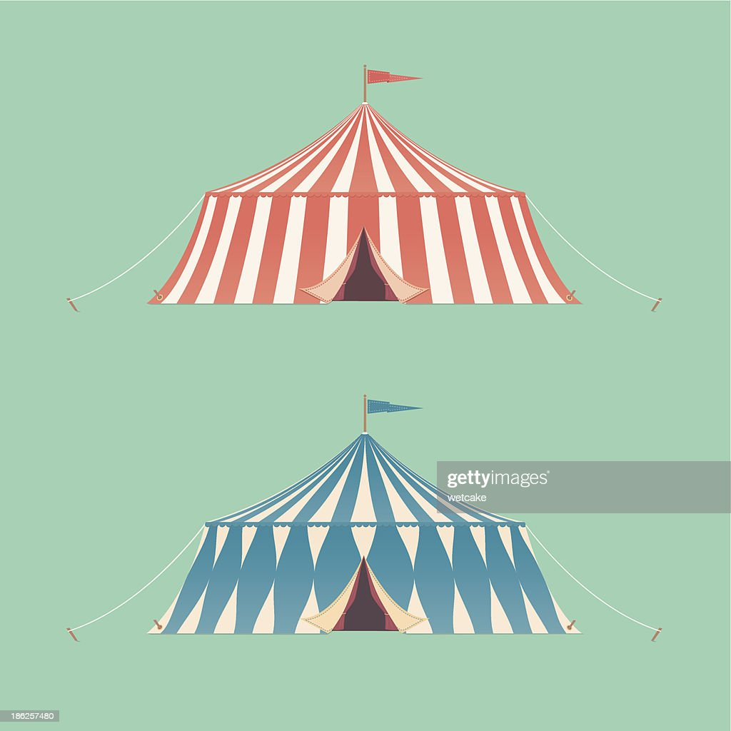 Two Vintage Circus Tents  Vector Art  sc 1 st  Thinkstock & Two Vintage Circus Tents Vector Art | Thinkstock