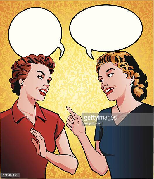 Two Women Making a Point