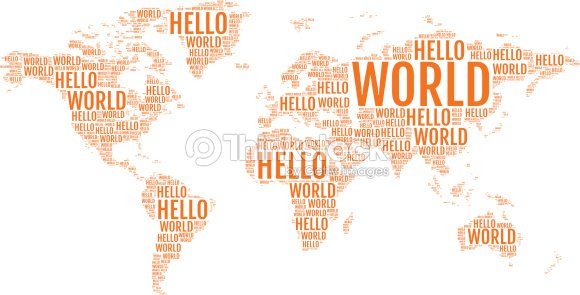 Typographic hello world map vector vector art thinkstock typographic hello world map vector vector art gumiabroncs Choice Image