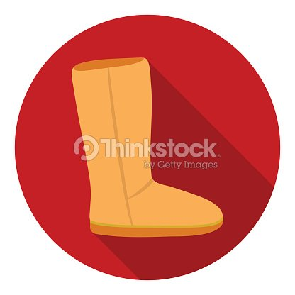 325635616bd Ugg Boots Icon In Flat Style Isolated On White Background Shoes ...