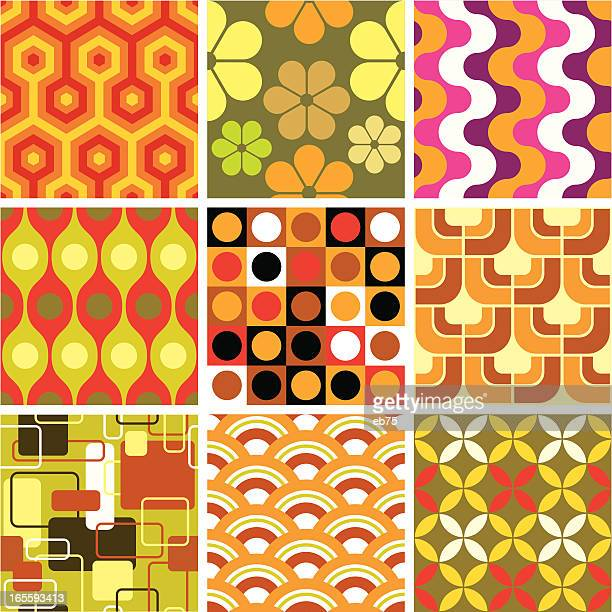 Ugly retro seamless patterns