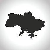 vector map of the Ukraine.