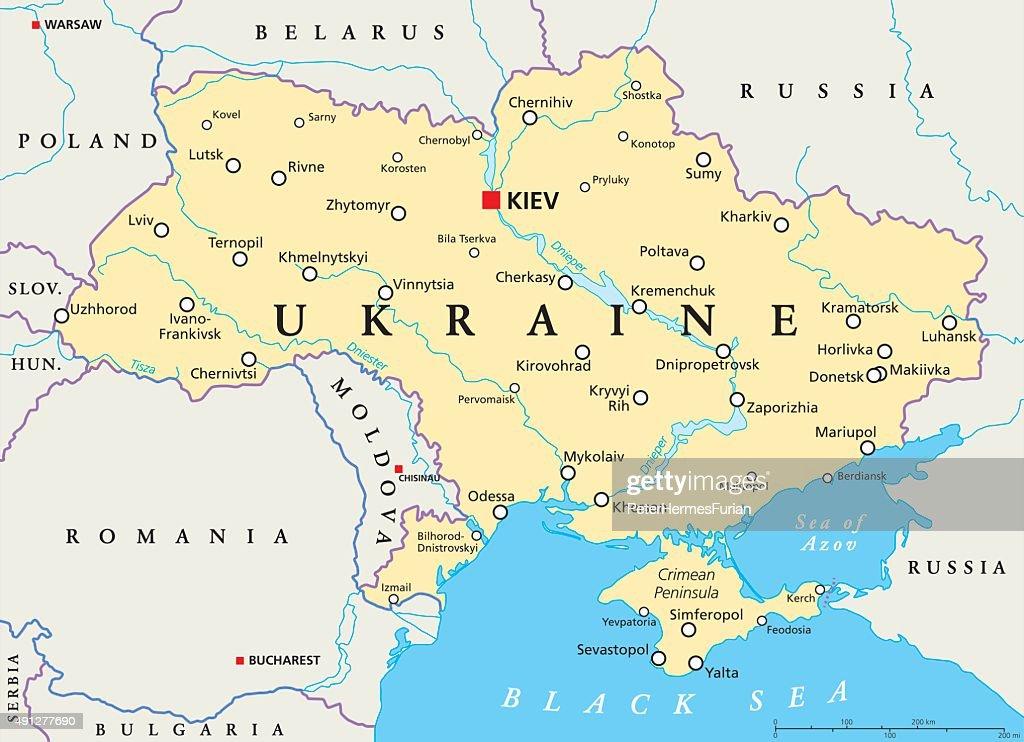 Ukraine Political Map Vector Art Thinkstock