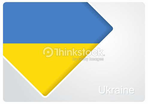 Ukrainian Flag Design Background Vector Illustration Vector Art