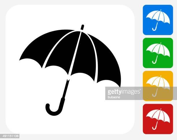 Sombrilla iconos planos de diseño gráfico