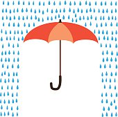 Vector umbrella protection from rain.