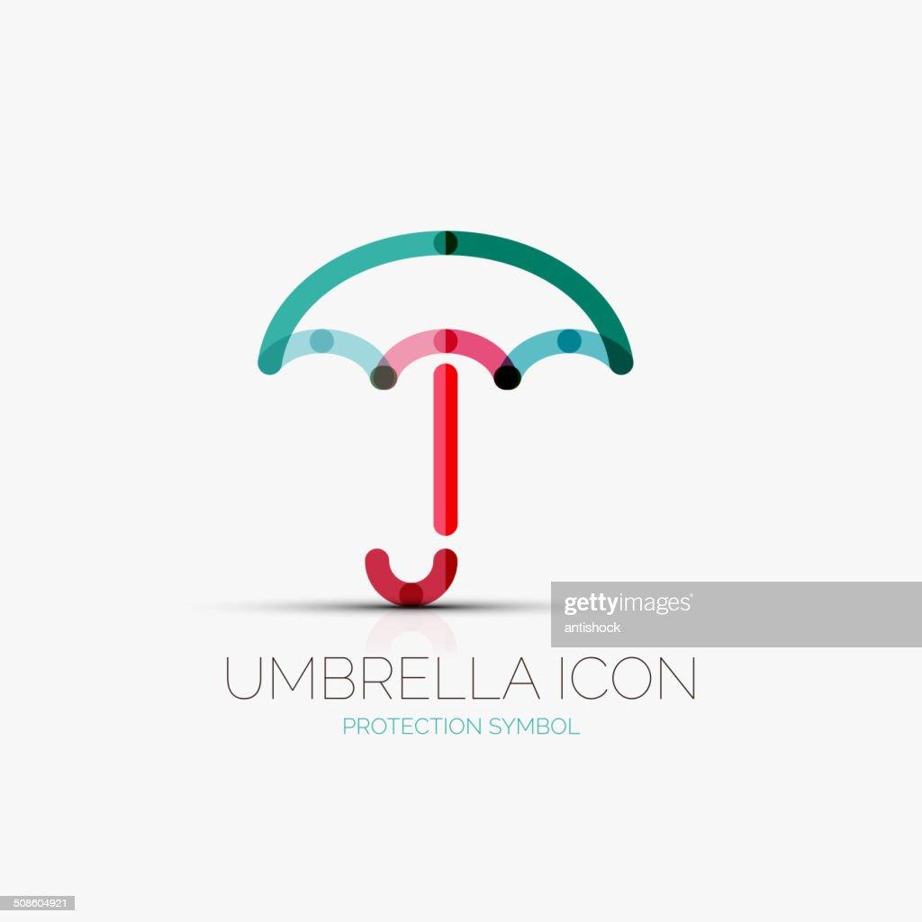 Paraguas, protección, concepto de icono : Arte vectorial