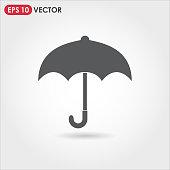 umbrella single vector icon on light background
