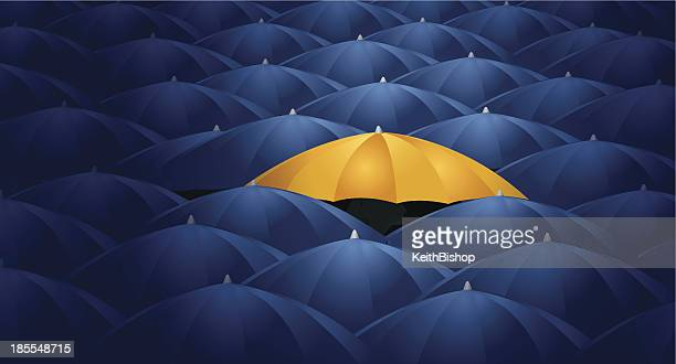Umbrellas - Protection, Business Concept Background