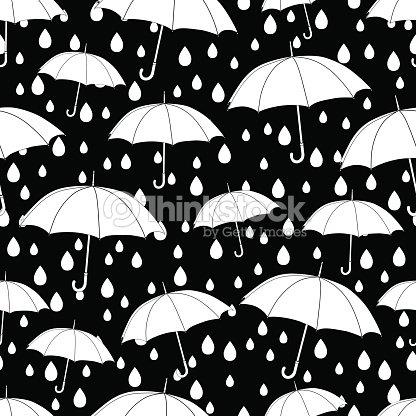 Paraguas De Patrones Sin Fisuras Para Colorear Libro Monocromo ...