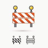 This is a vector illustration of under construction icon