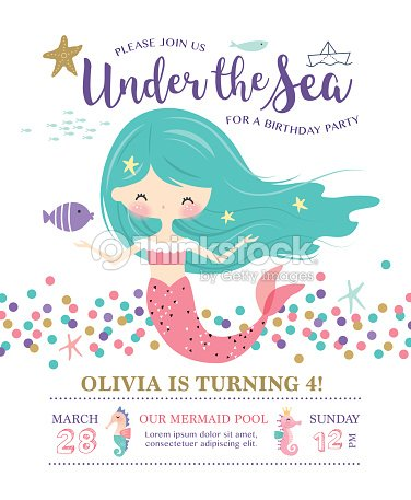 Under The Sea Birthday Party Invitation Card