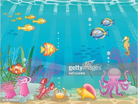 Cena submarina : Arte vetorial