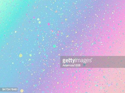 Einhorn-Hintergrund mit Regenbogen-Mesh. Holographische Einhorn Hintergrund mit magischen funkelt. Vektor-Illustration für Plakat, Broschüre, Einladung, Cover Buch, Katalog. : Vektorgrafik