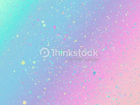 Unicorn background with rainbow mesh. Holographic unicorn background with magic sparkles. Vector illustration for poster, brochure, invitation, cover book, catalog. : stock vector
