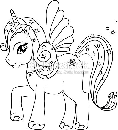 Encantador Unicornio Para Colorear Para Niños Imagen - Ideas Para ...